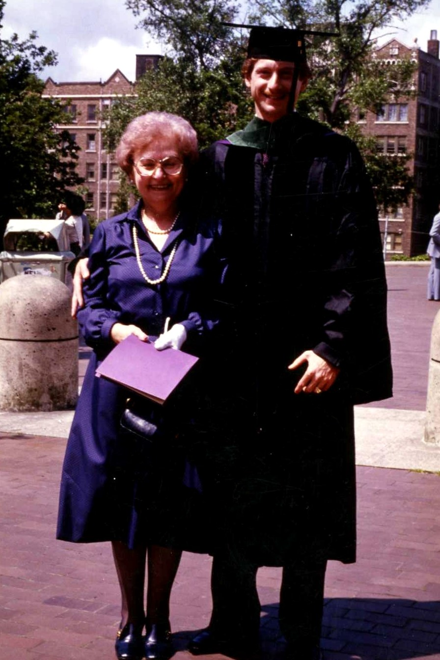 1970s Nano and Rob at his UW Medical School graduation