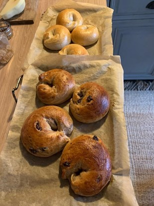 Andy's home baked bagels