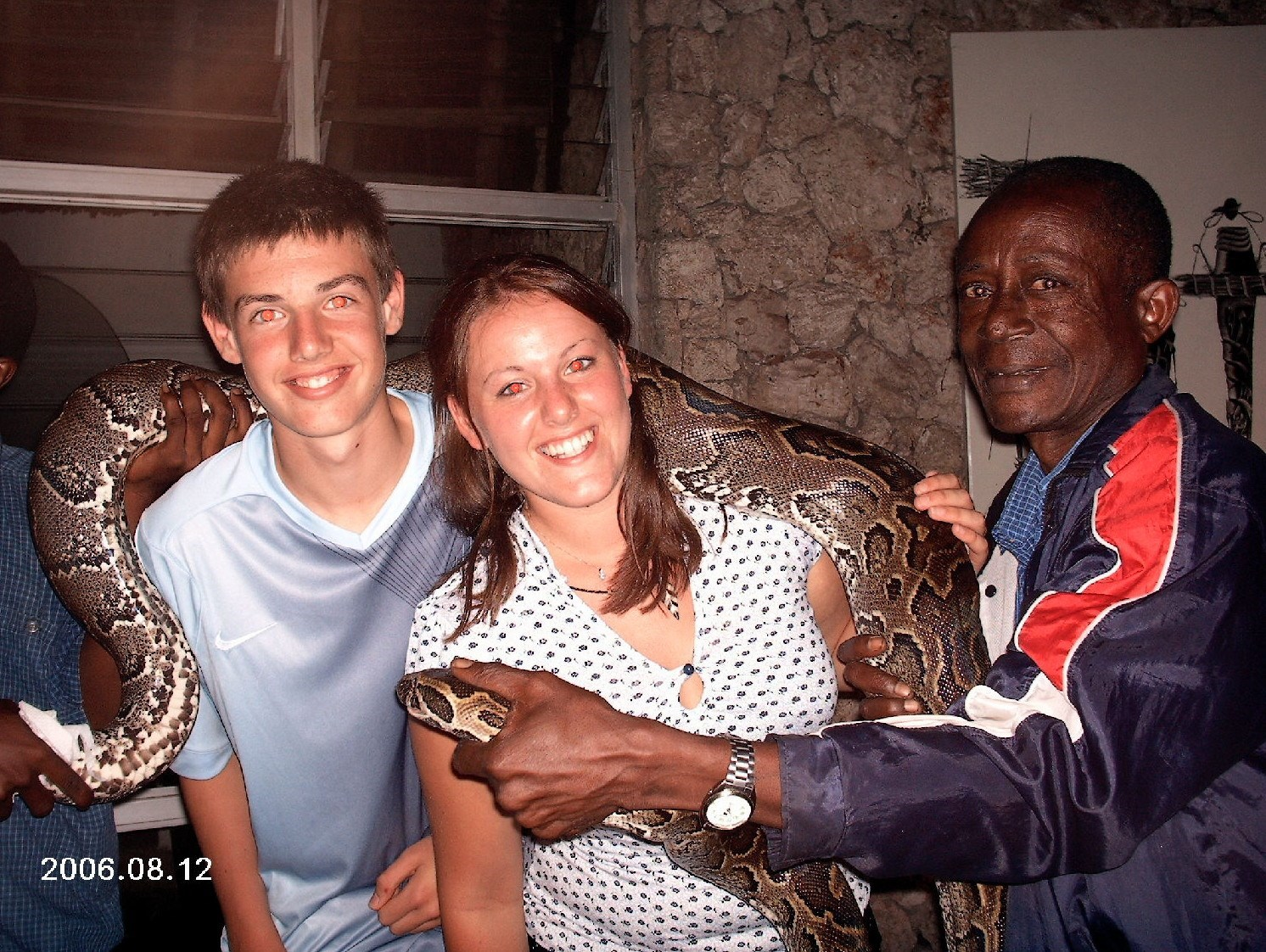 chris, me and a very heavy python