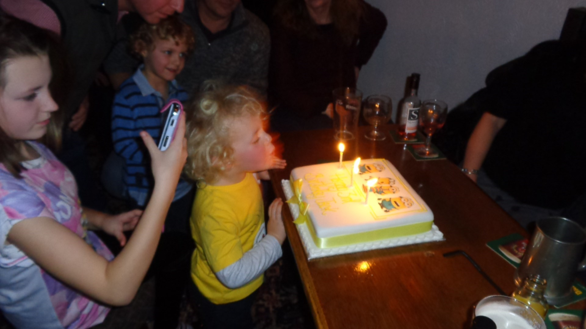 Jack blowing out the magic candles