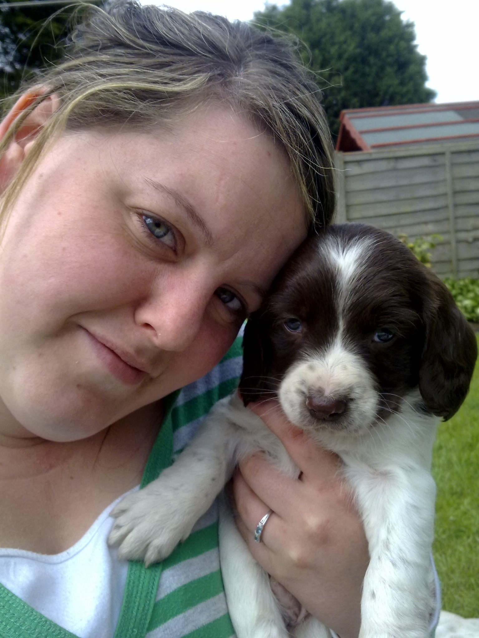 Donna with one of Jan's puppies