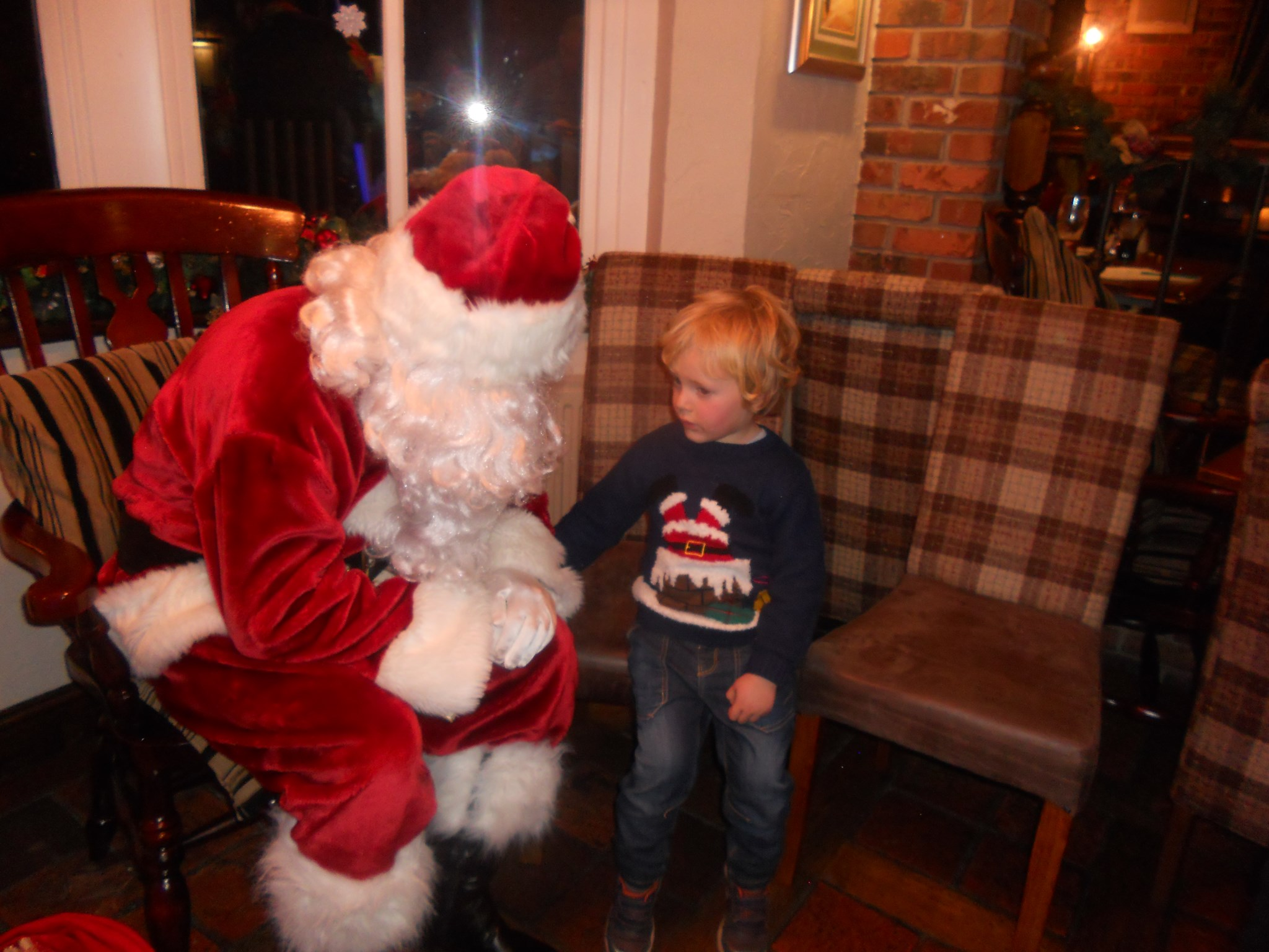 Donna's little boy Jack visiting Father Christmas