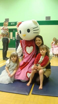 Star struck with Hello Kitty (uncle Dan)