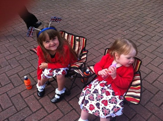 Elodie and Maddie at our street party for the Queen's Diamond Jubilee!