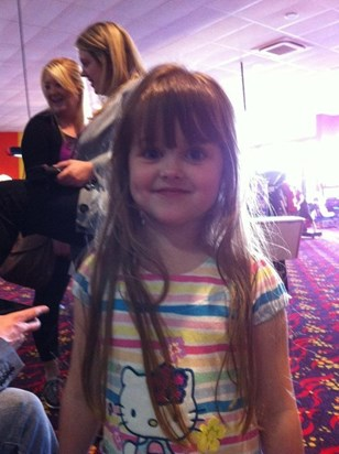 Fun bowling for Grandad's, Uncle Andrew's and Auntie Weesie's birthday!