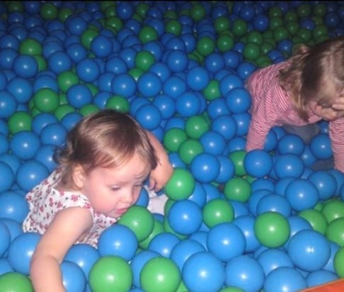 Chilling in the ball pool