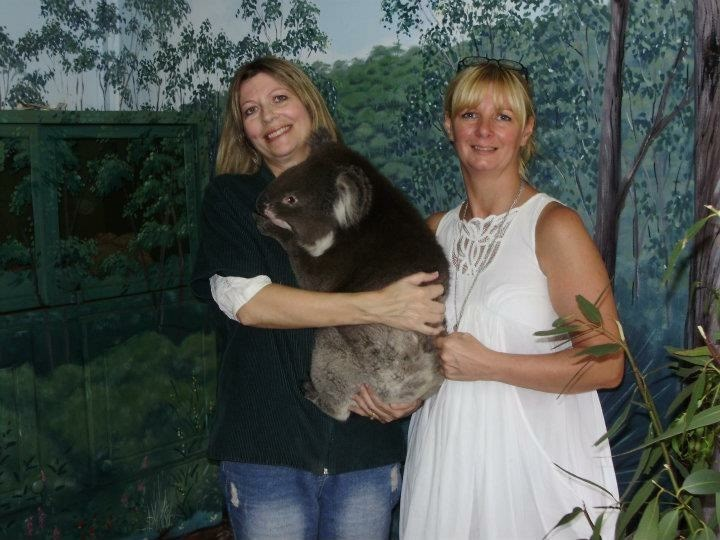 Me and my sis visiting the wildlife park in Adelaide