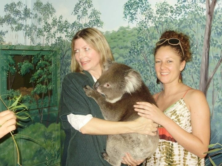 Julie and Emma at the wildlife park Adelaide