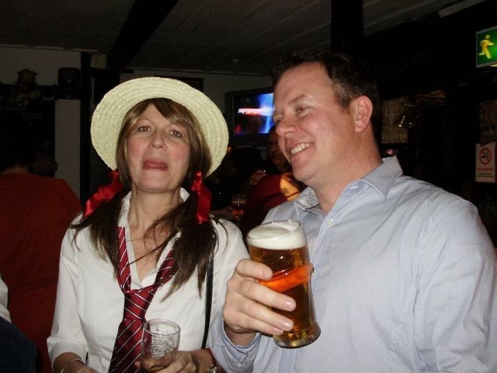 Julie with brother Darren New Year's Eve x
