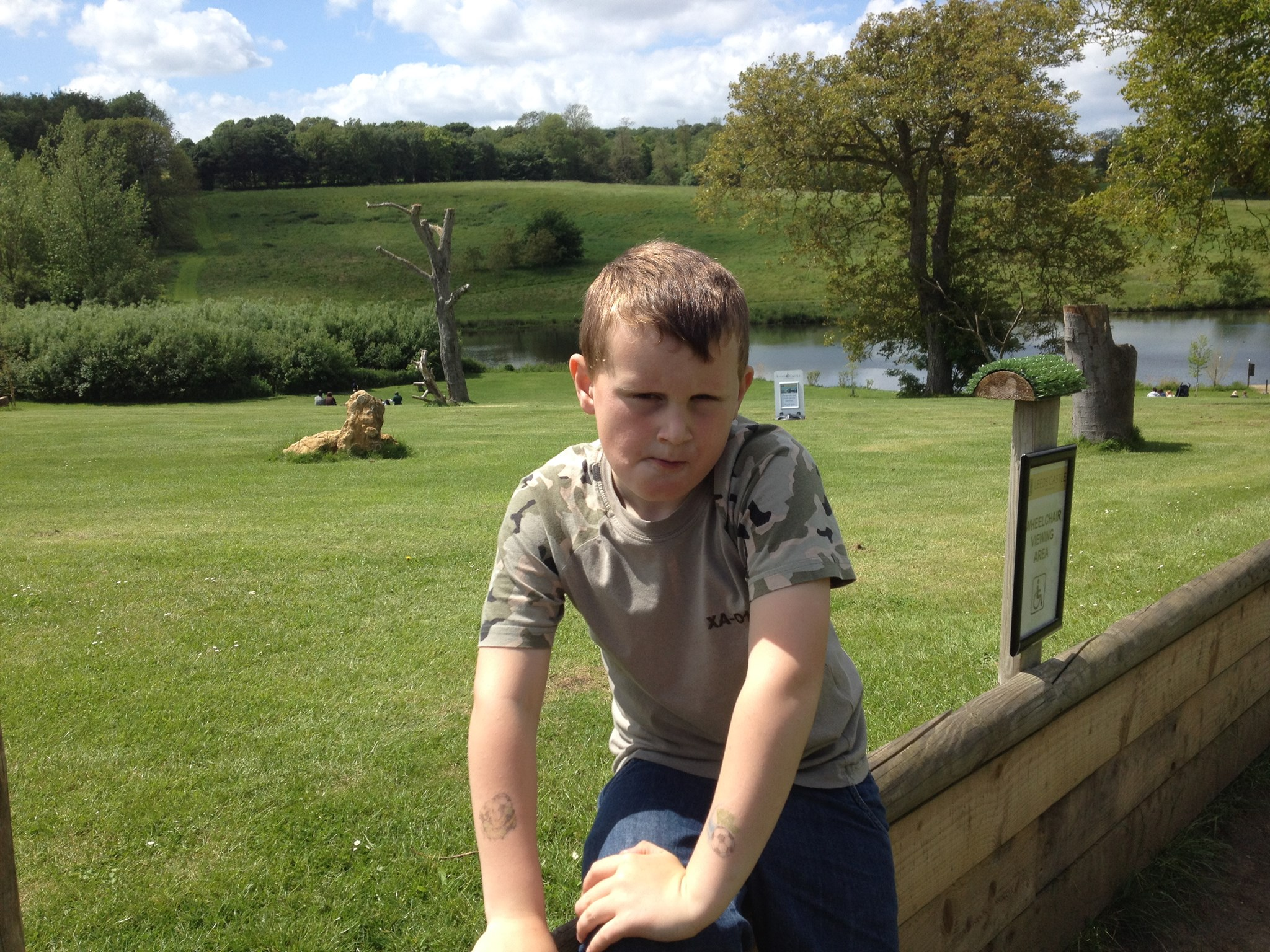Leeds Castle - 25.5.14 - last day of being 7.  Had a great day.
