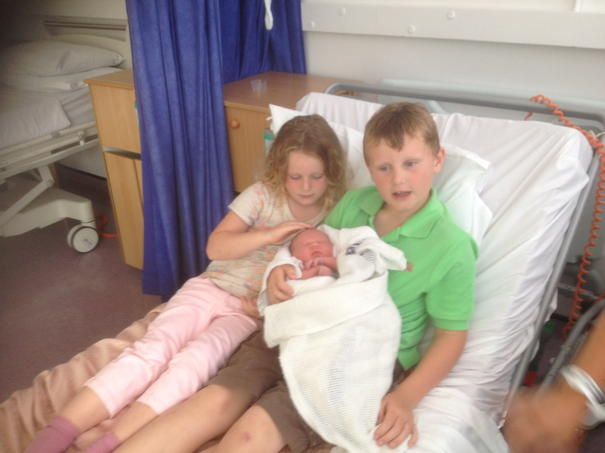 Harry & Jess with Isabelle (1 day old).