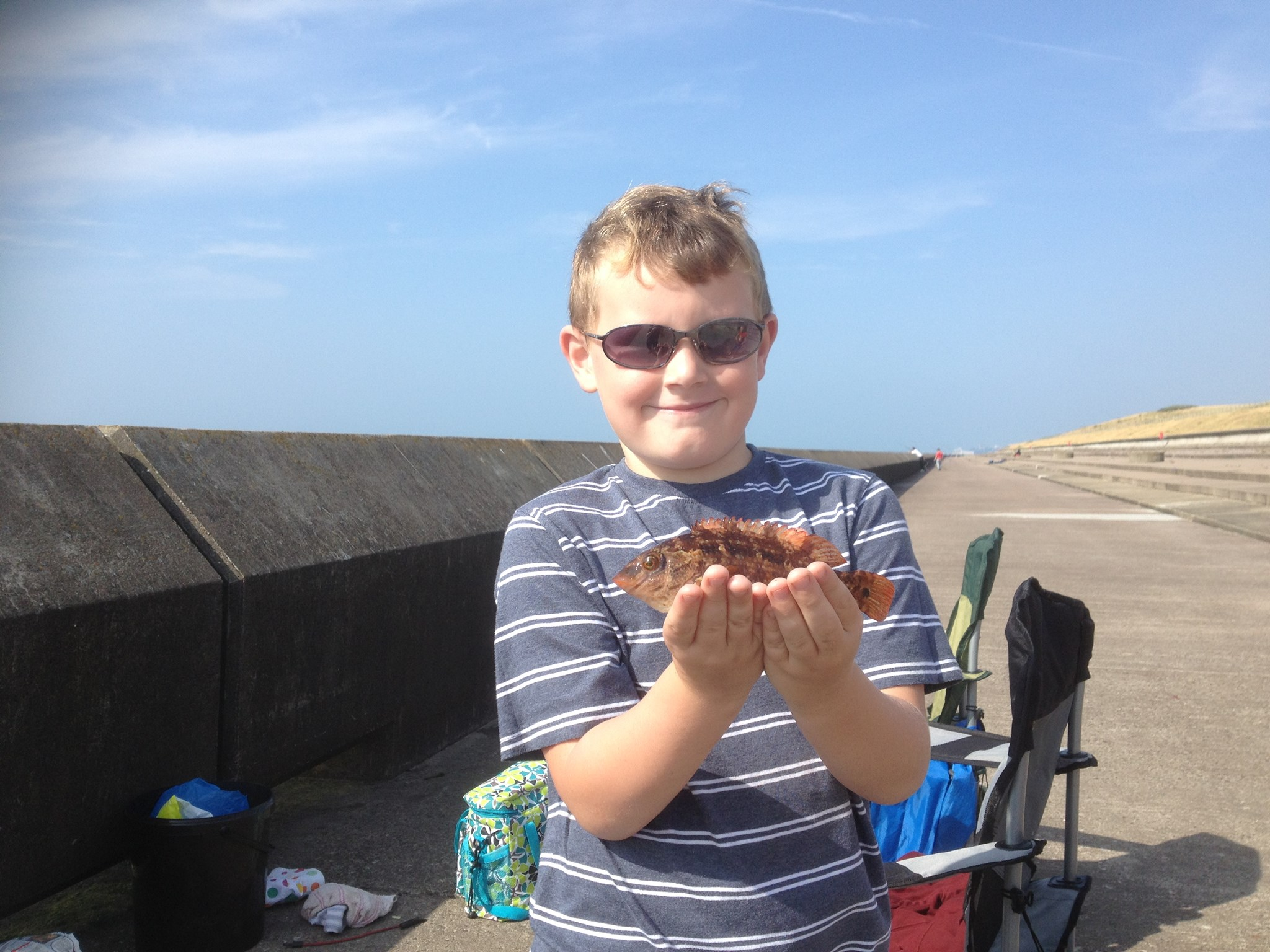 Fishing Summer 2013 - Samphire Hoe.  The one that didn't get away.