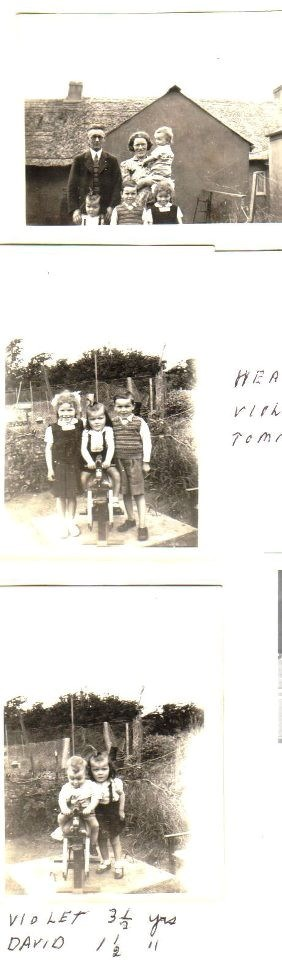 Mum as a baby at 3 1/2 yrs old with her parents and siblings.