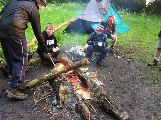 2017 Braidwood with Scouts, morning after sleeping under a tarpaulin
