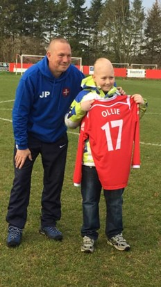 Ollie and Risborough rangers manager John