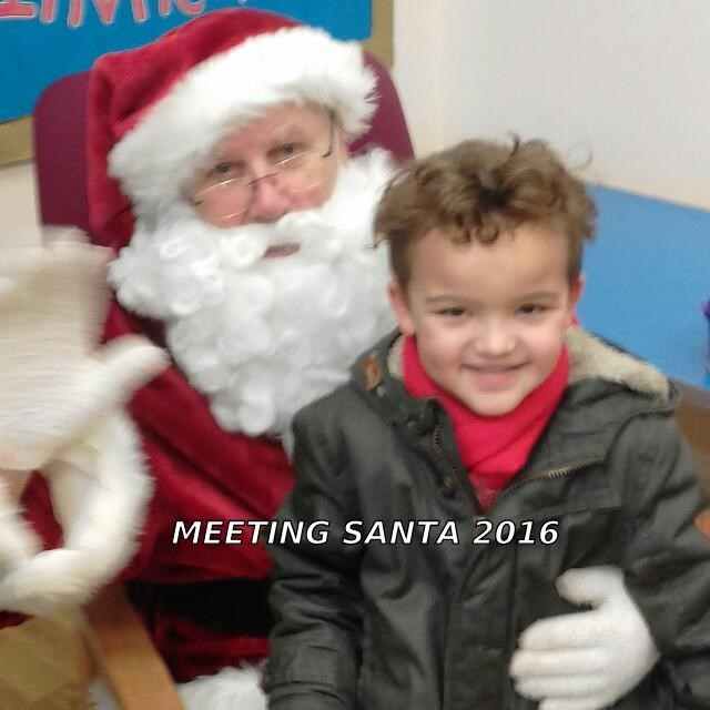 Donell with Santa