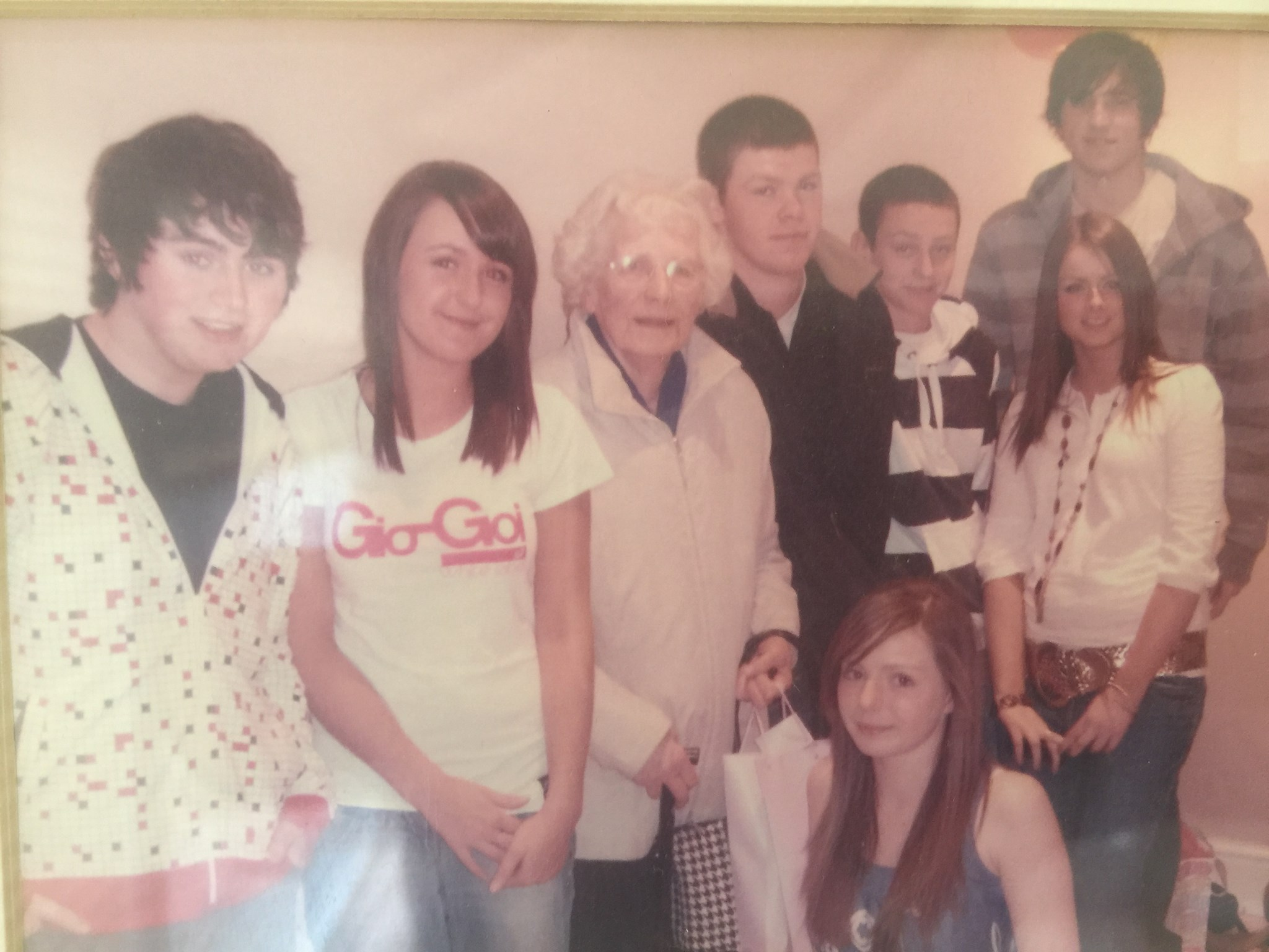 Amy with her great grandchildren (her son Jack's grandkids) xx