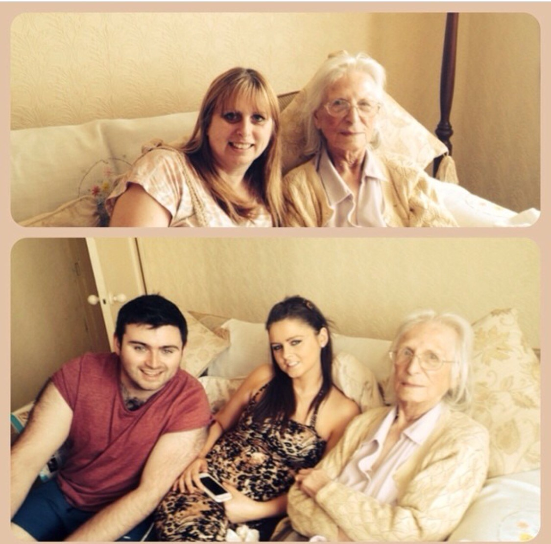 Me with my Nan & my kids Katie & Jack with their great grandmother Amy xx