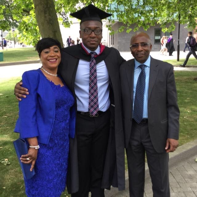 PI and Taiwo at Òkìkí's graduation from the university of Warwick