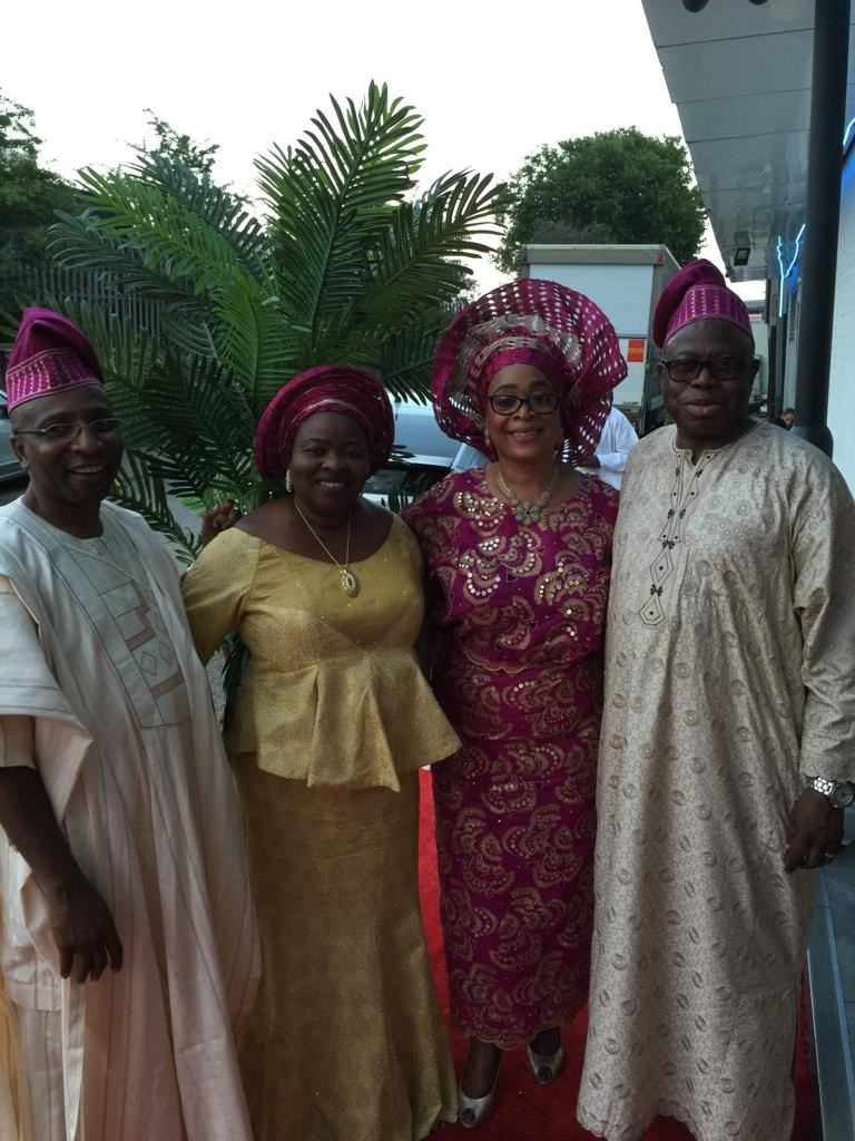 Dr & Mrs P I Abiola with Mr & Mrs Gbenga Coker  - August 2018
