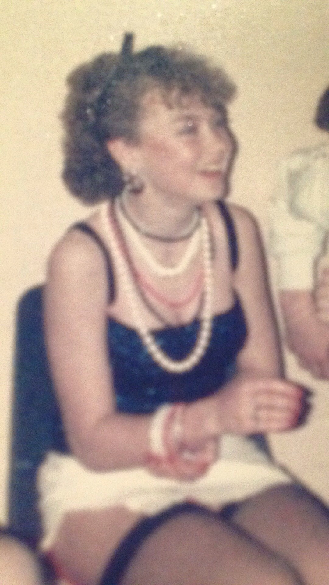 Kate at our Tart and Tramp party when we were 13