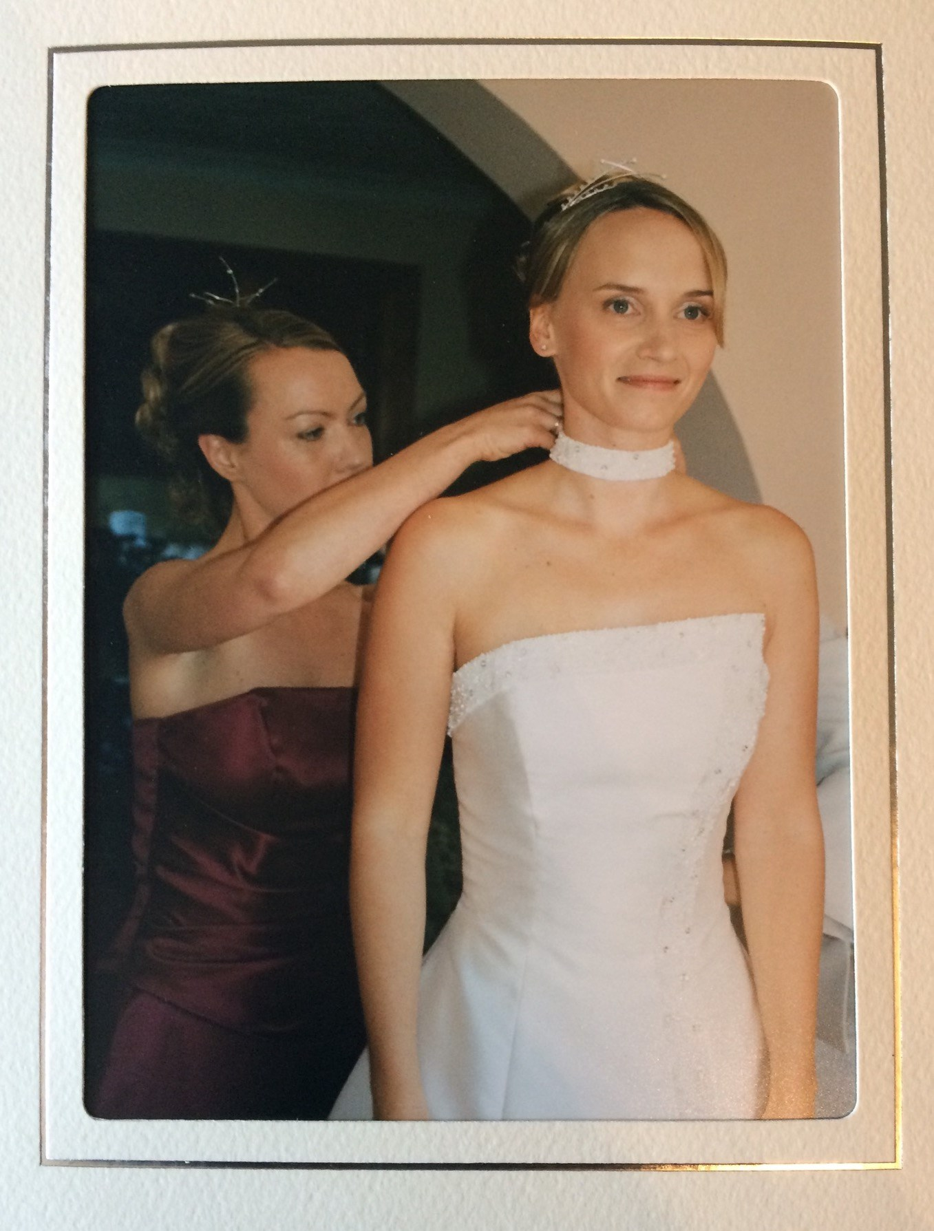 Helping the bride!