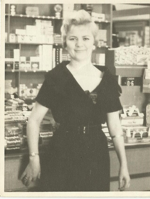 Mum at Newsagent she used to Manage