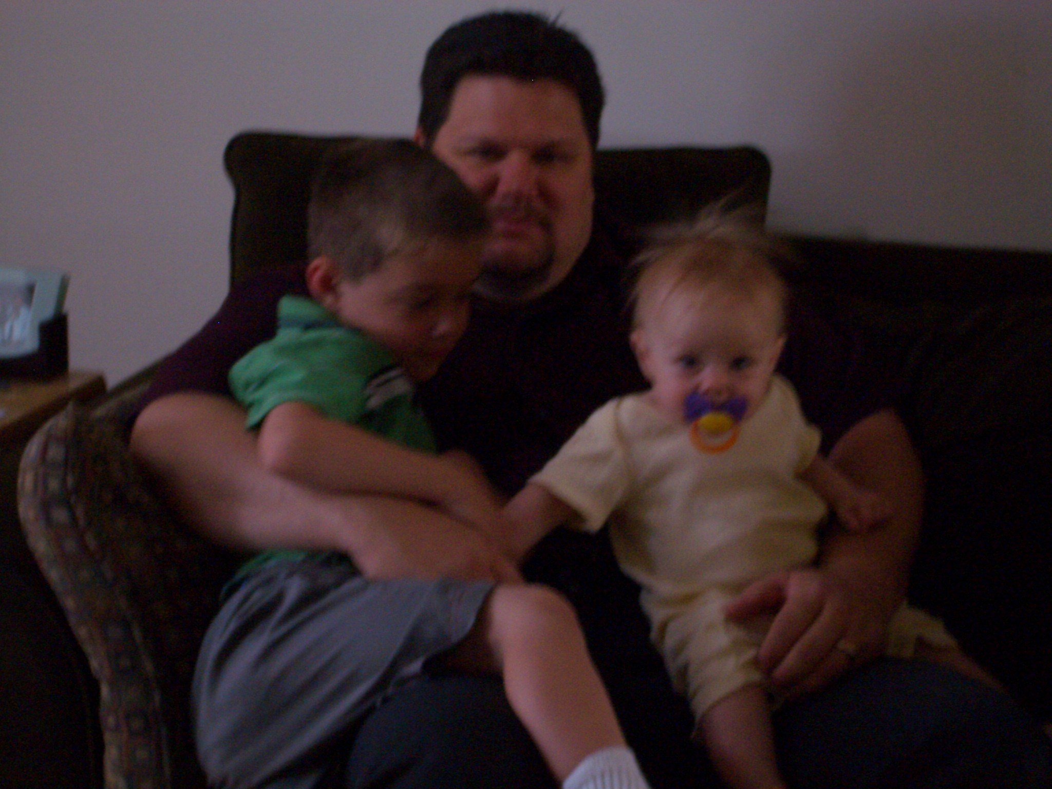 daddy with Kyle and Kayla
