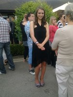 Looking beautiful at end of GCSE year prom