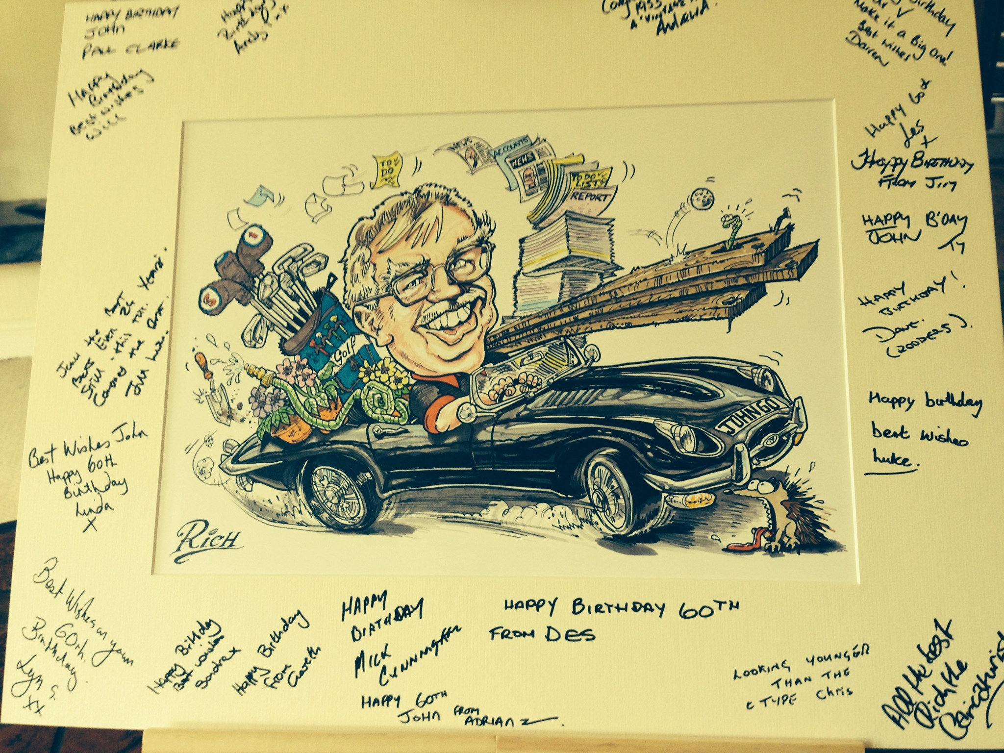 John's caricature signed by VT