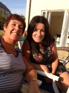 Mum and Hannah... lazing on a sunny afternoon x