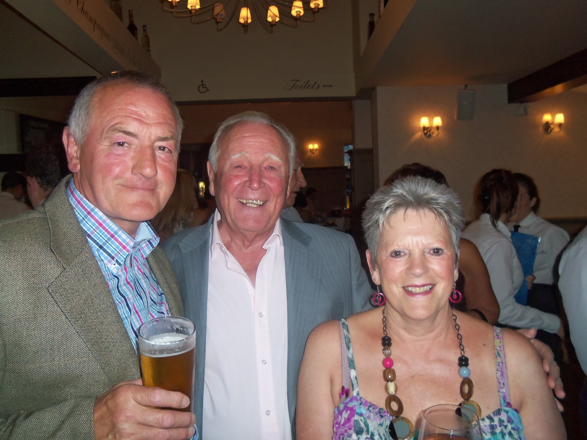 Having a good time at Hughie's 70th Birthday Party!!!   x x x