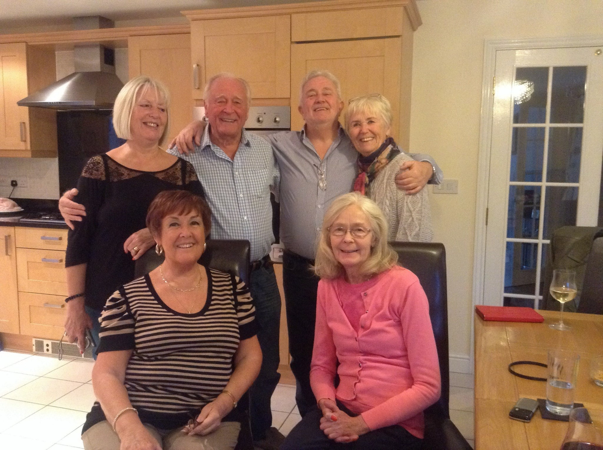 Dad and Mum with his cousins and beloved sister