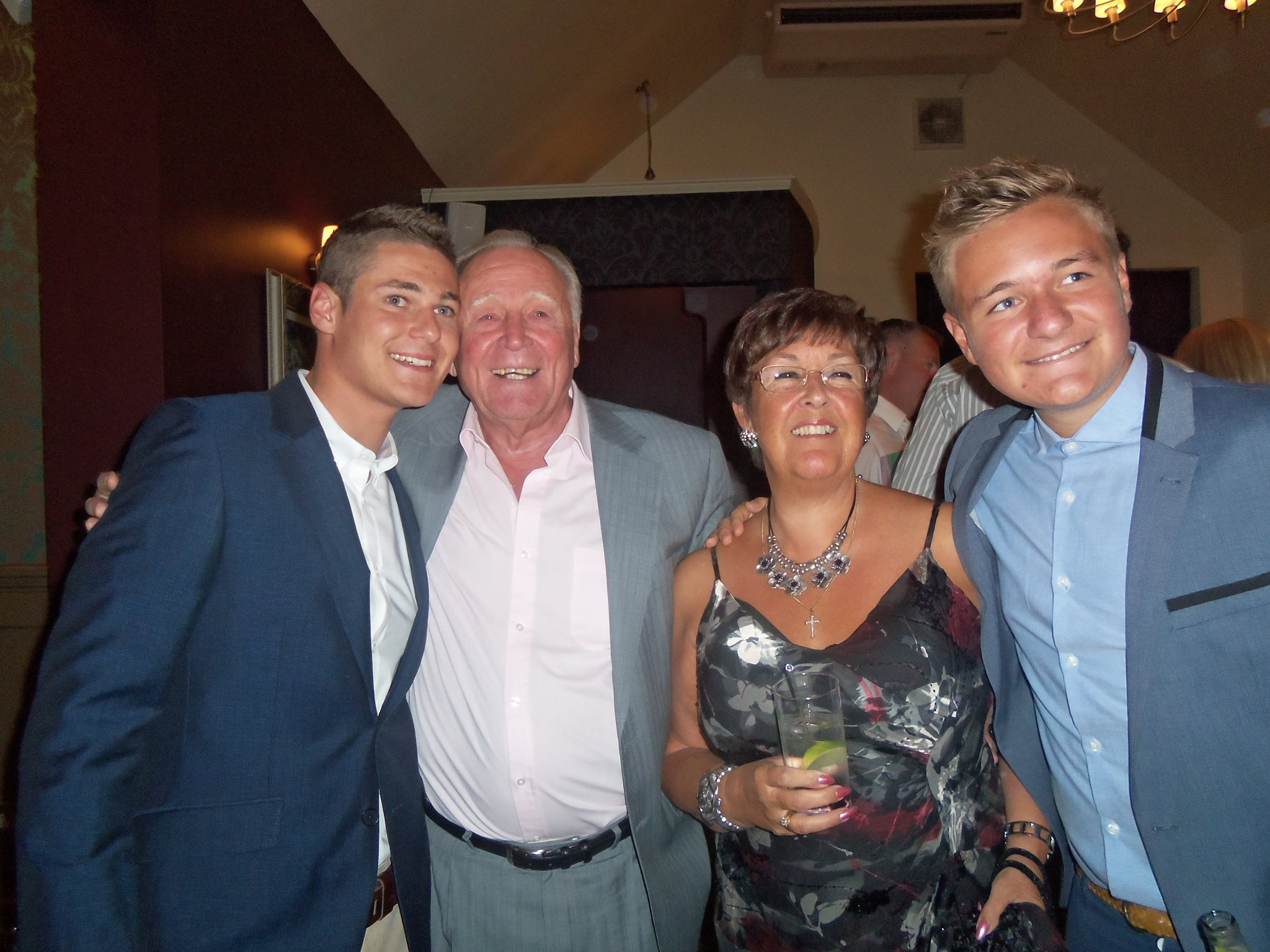 Jordan and Ollie with mum and dadxx