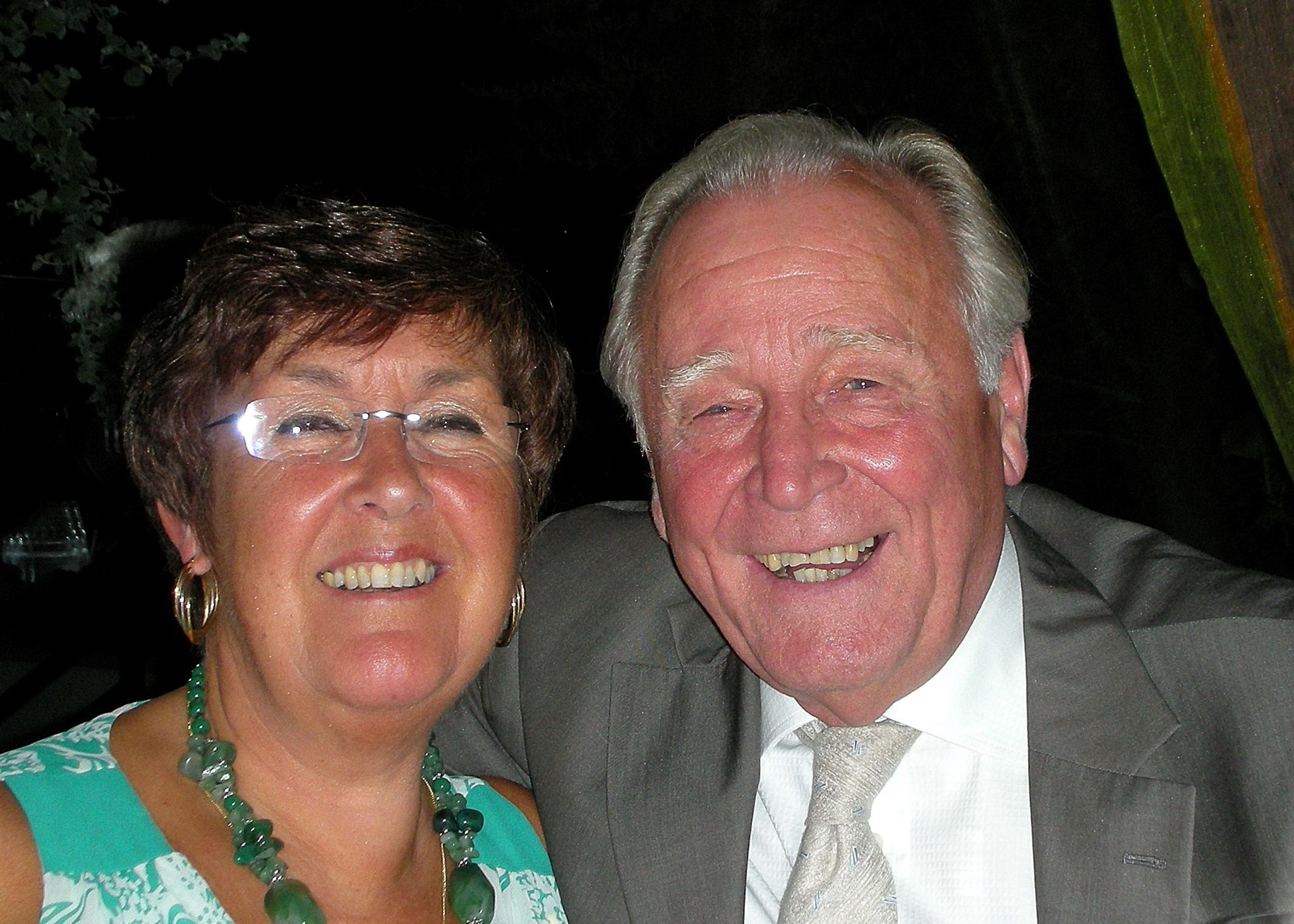 Hughie & Barbara at his 3rd retirement party, at the Waterside Inn, Bray in 2007.