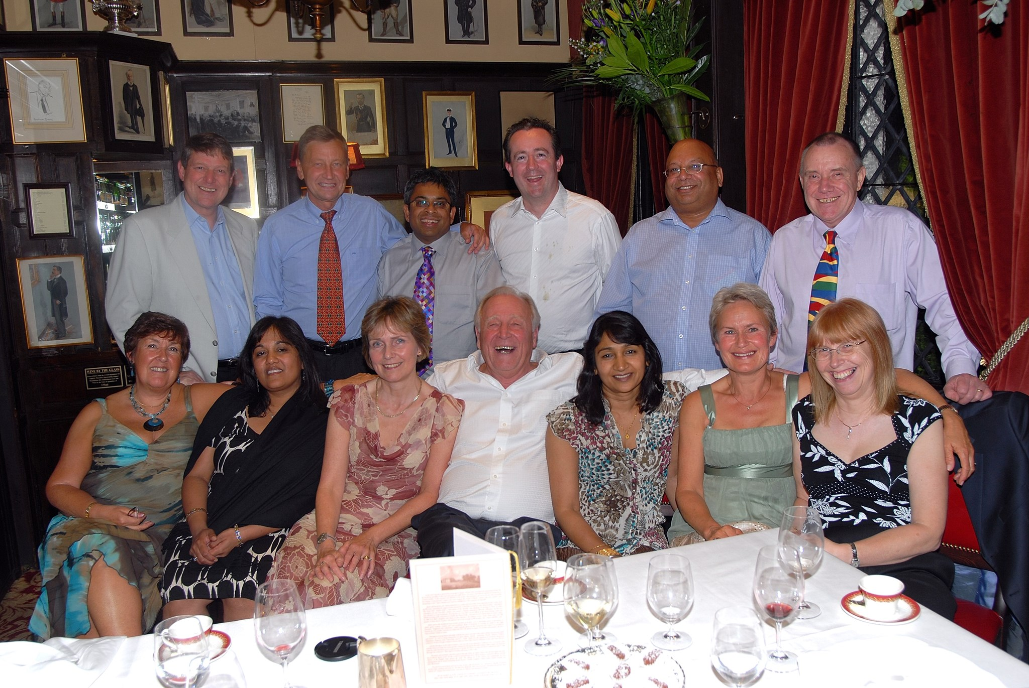 A lovely time at Hugh's retirement dinner (2nd) at Rules Restaurant, London 2007.