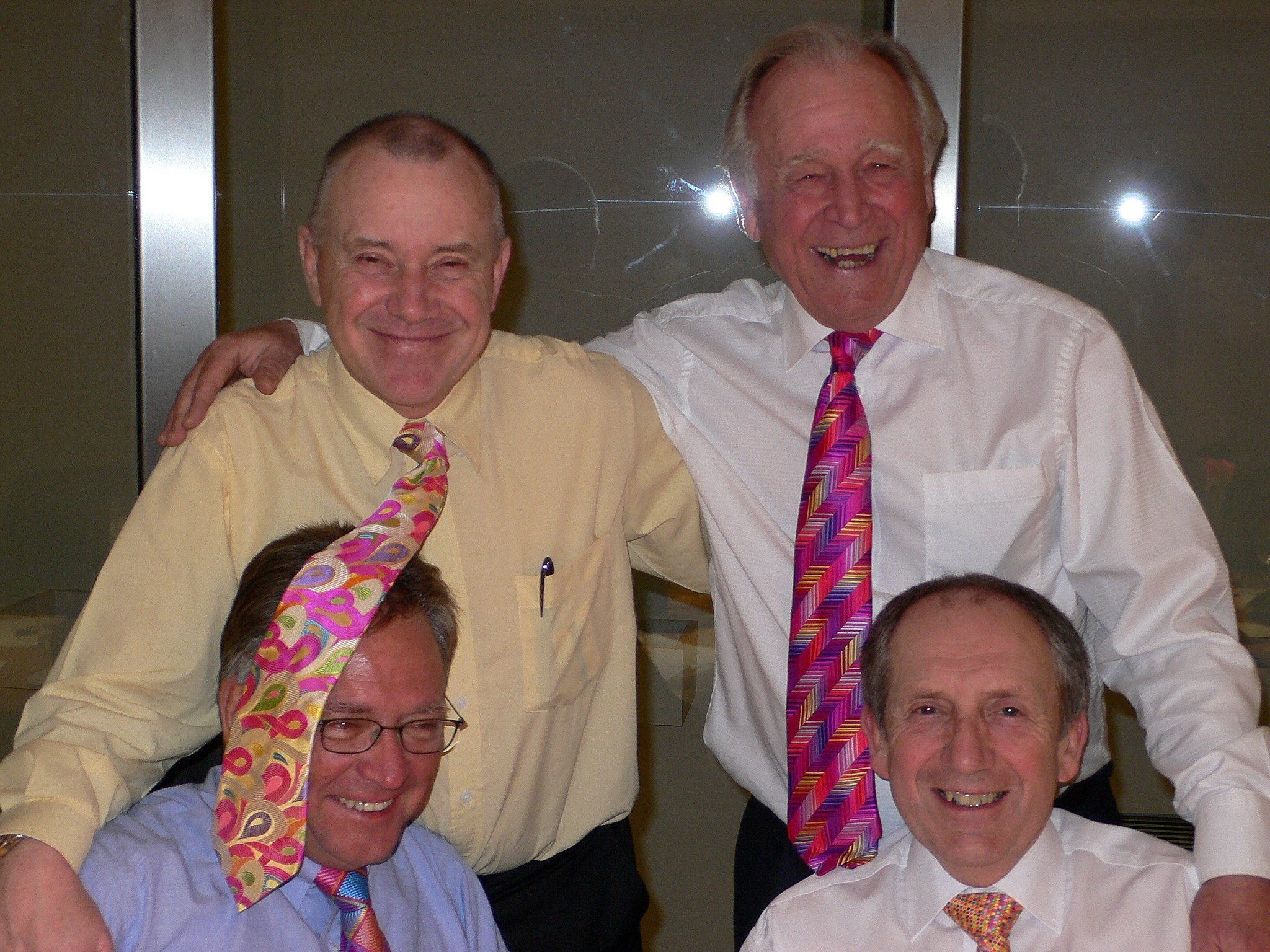 Loud Tie competition 2007. Hughie with Gero, David & Graham. Another fun night!