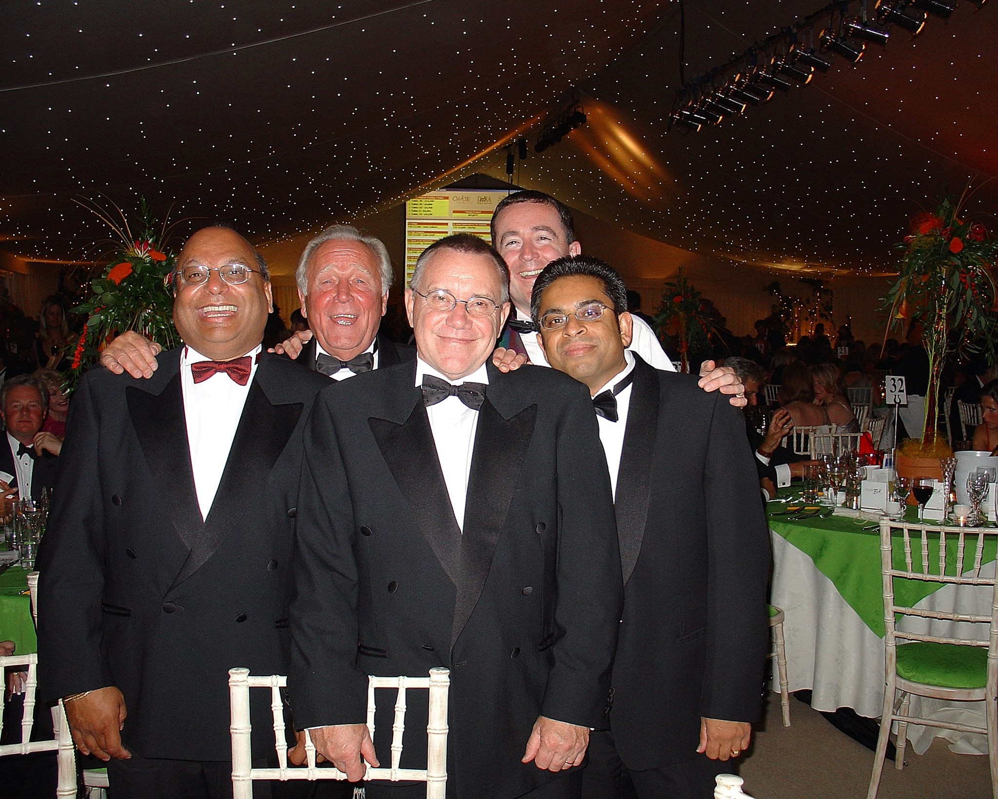 The South Harrow Club at Anthea Turner's charity function in 2004.