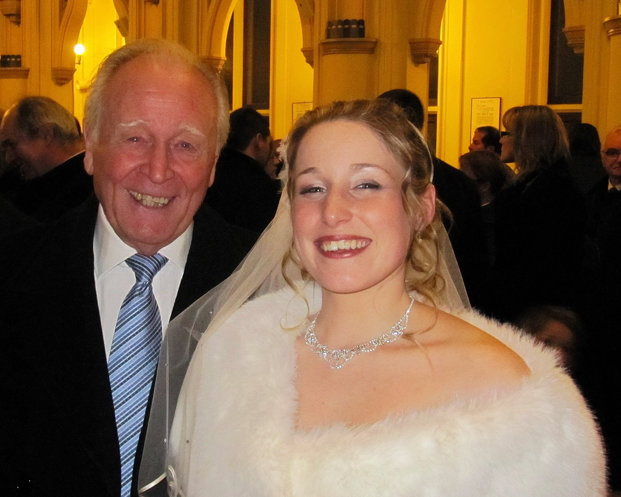 Hughie with Alexandrine at her wedding to David in Le Touquet in January 2011
