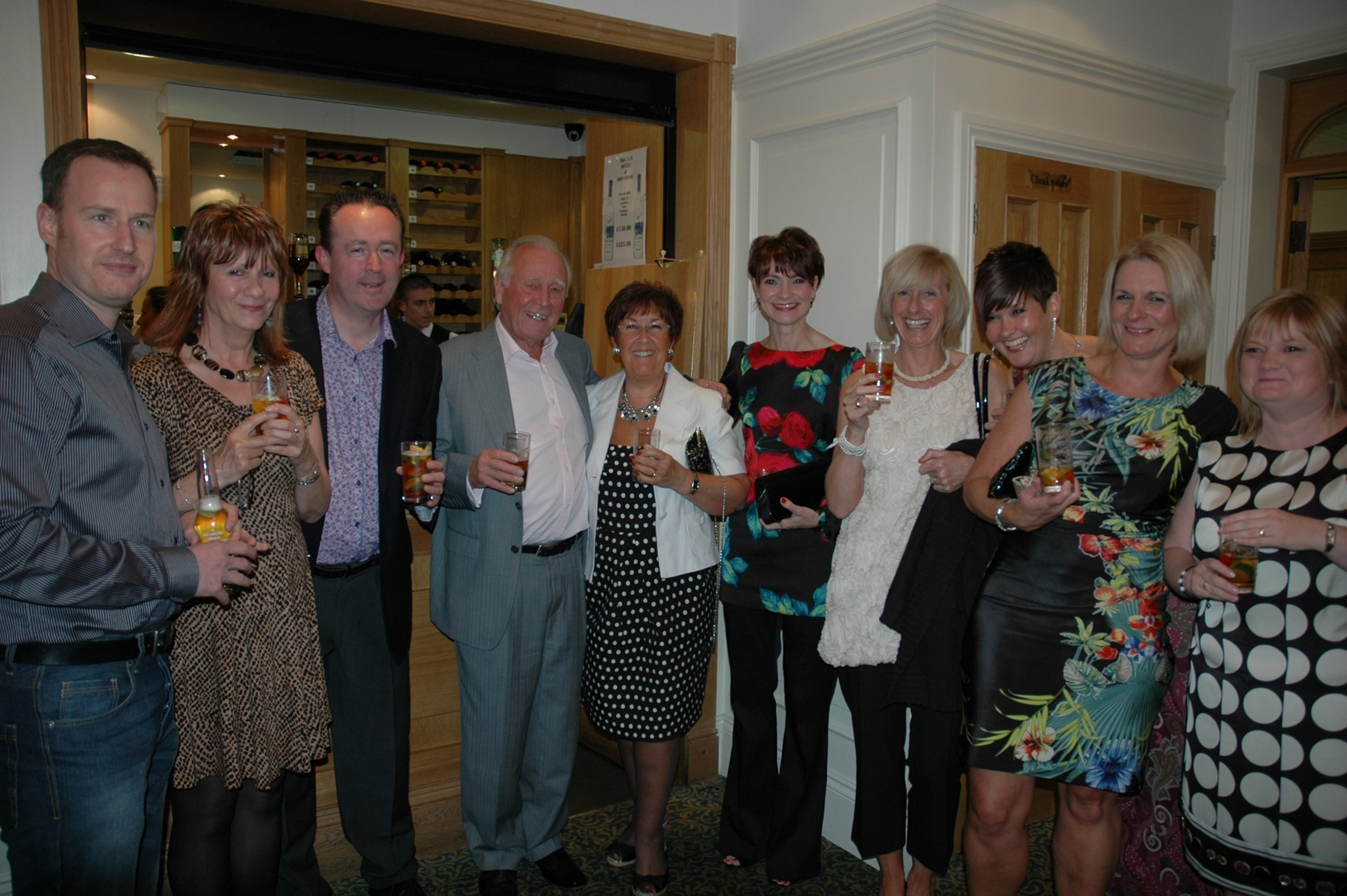 Hughie & Barbara with Keith Blackie and many colleagues at Graham's retirement.