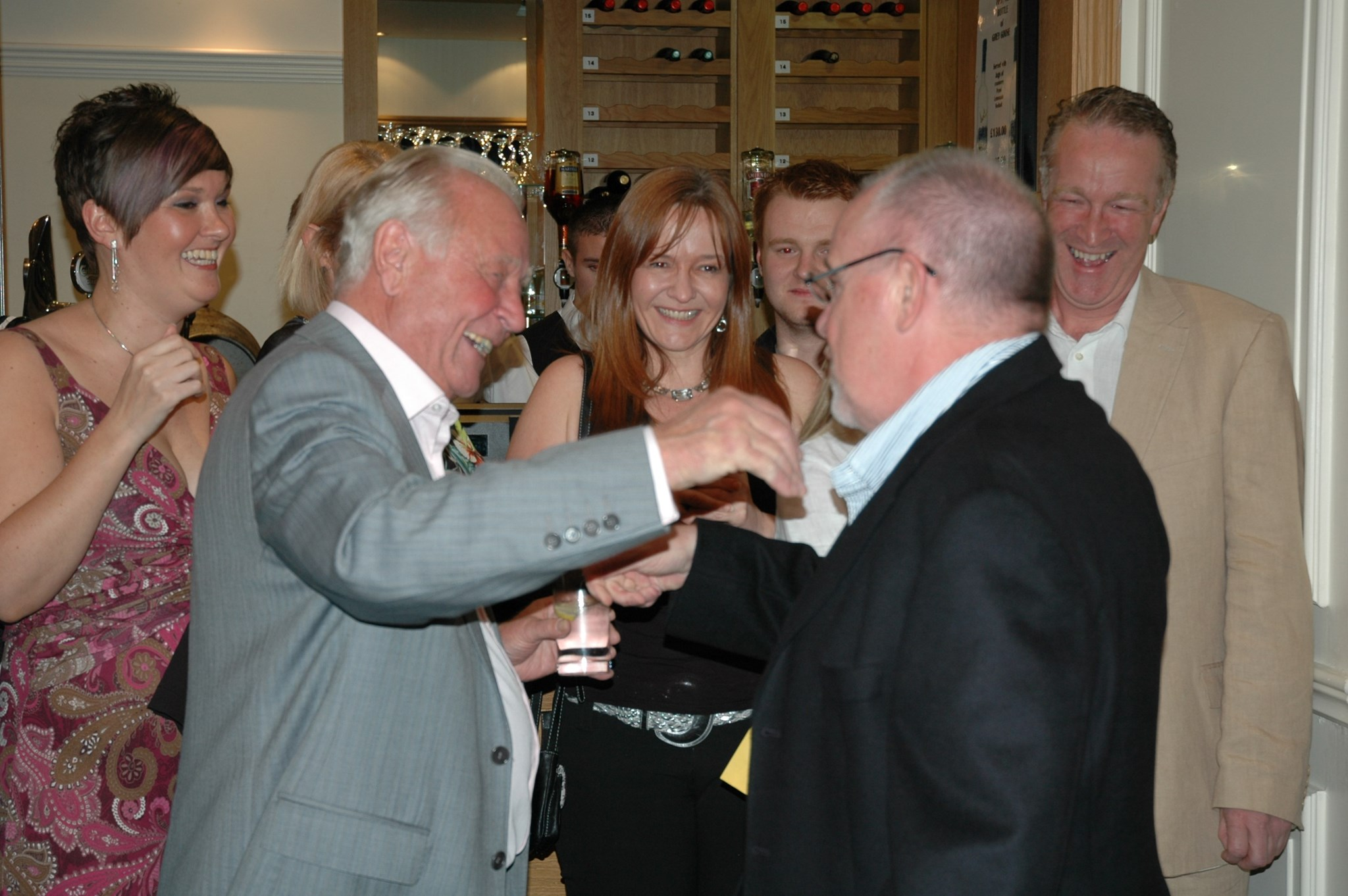 What a lovely surprise to see Hughie at my retirement party!