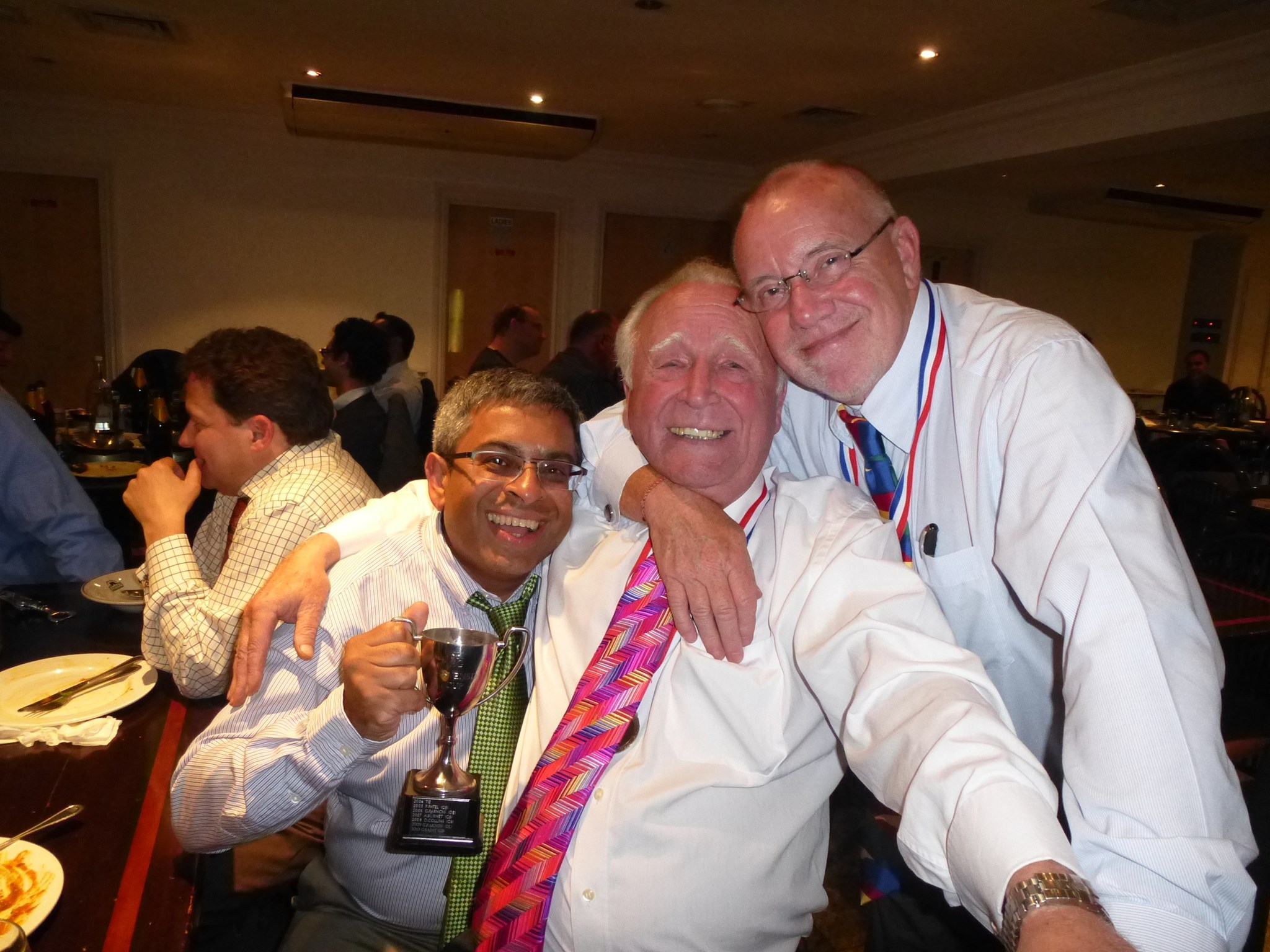 Congratulated by Pravin & Graham