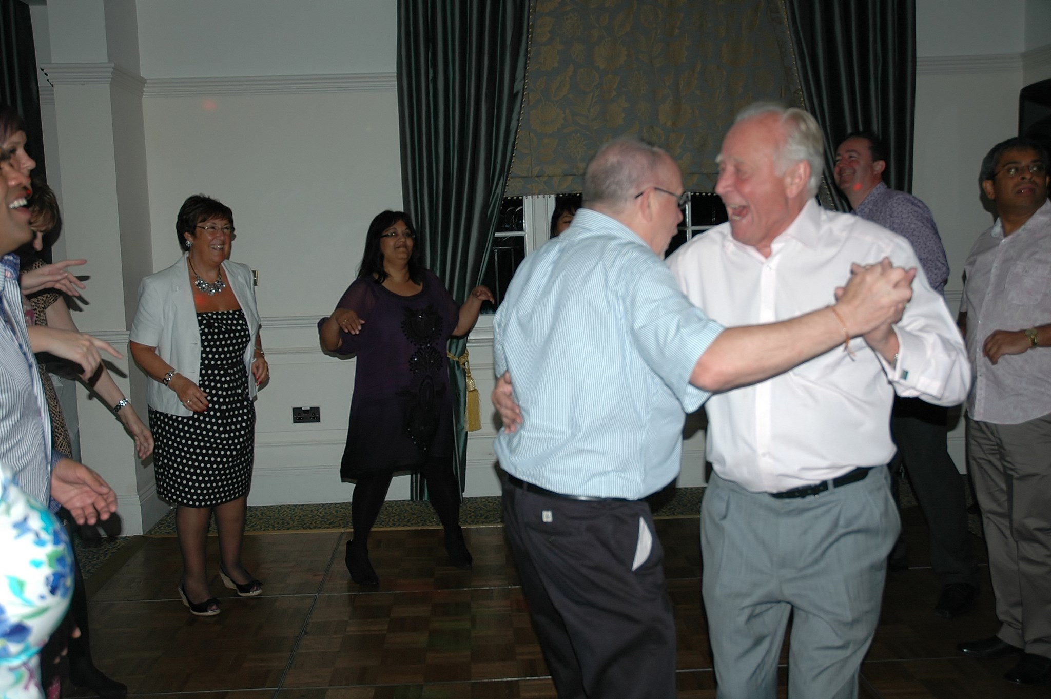 Hughie's ballroom dancing lessons start to pay off.