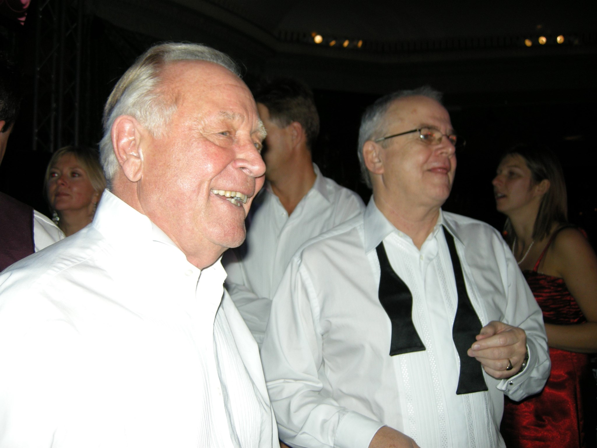 Hughie with Peter Smith at the Make a Wish Ball 2007.