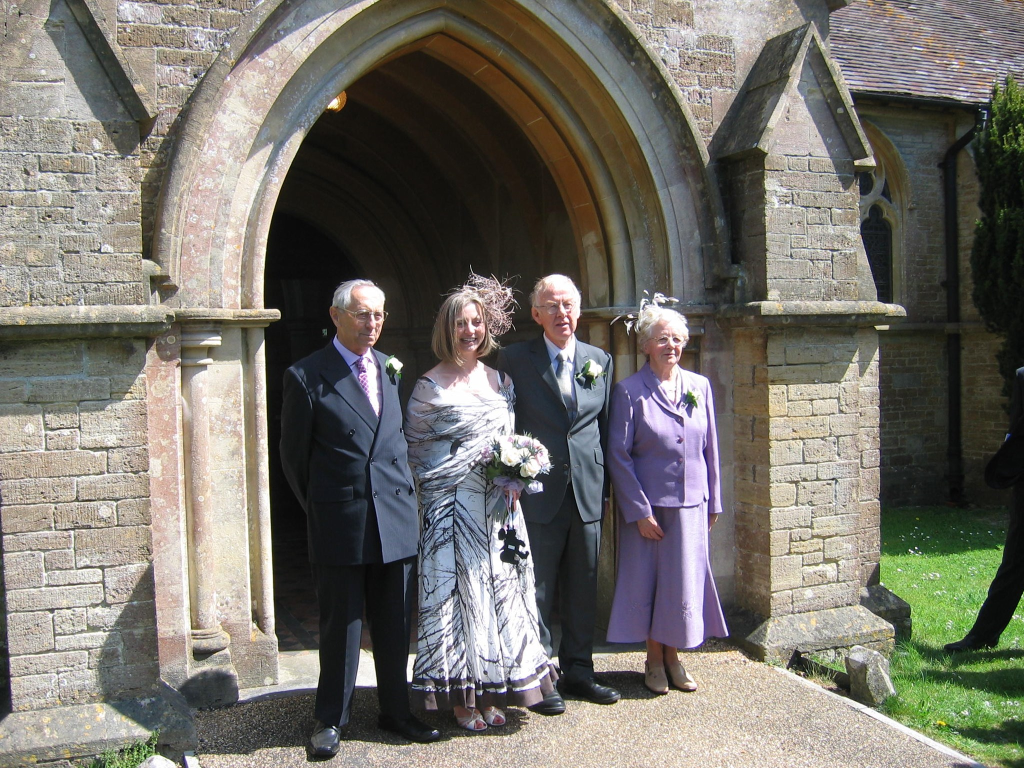 Daughter Christine's wedding to Roger
