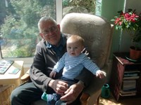 2012.  Dad with his 5th Grandson, Henry David.