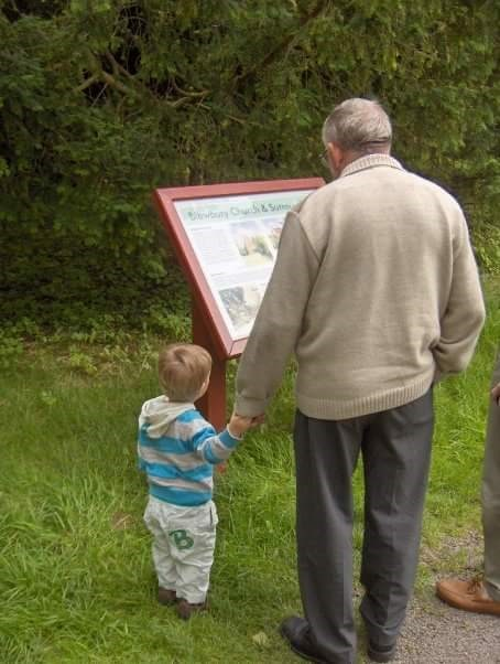 Michael, and his grandson Daniel Michael, visiting St. Michael's church in Blewbury.