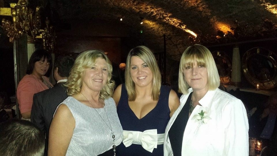 P with her Mum and sister Sam
