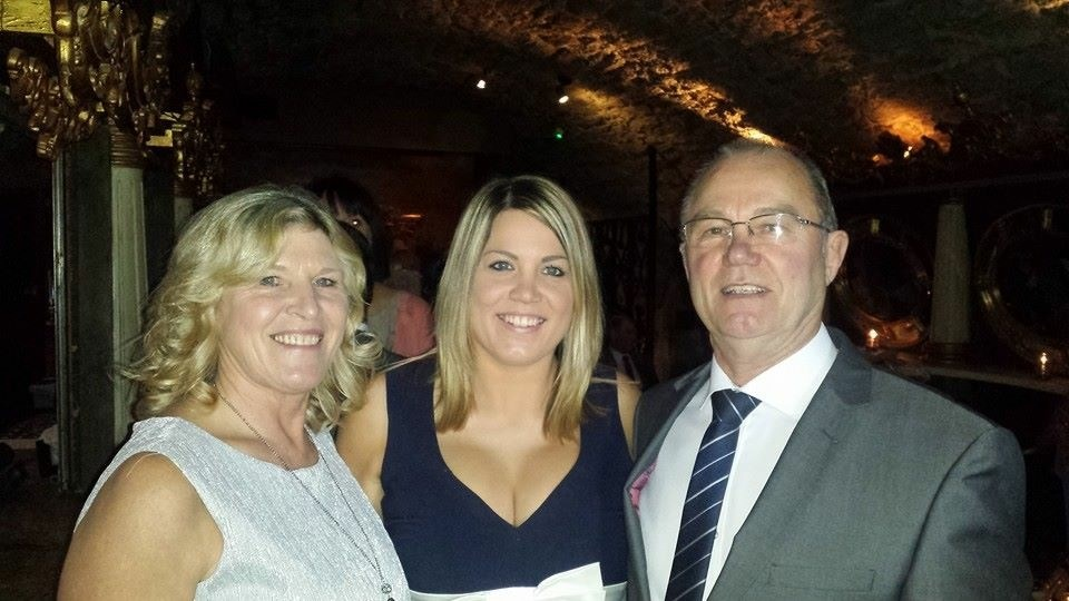 Paula with Mum and Dad