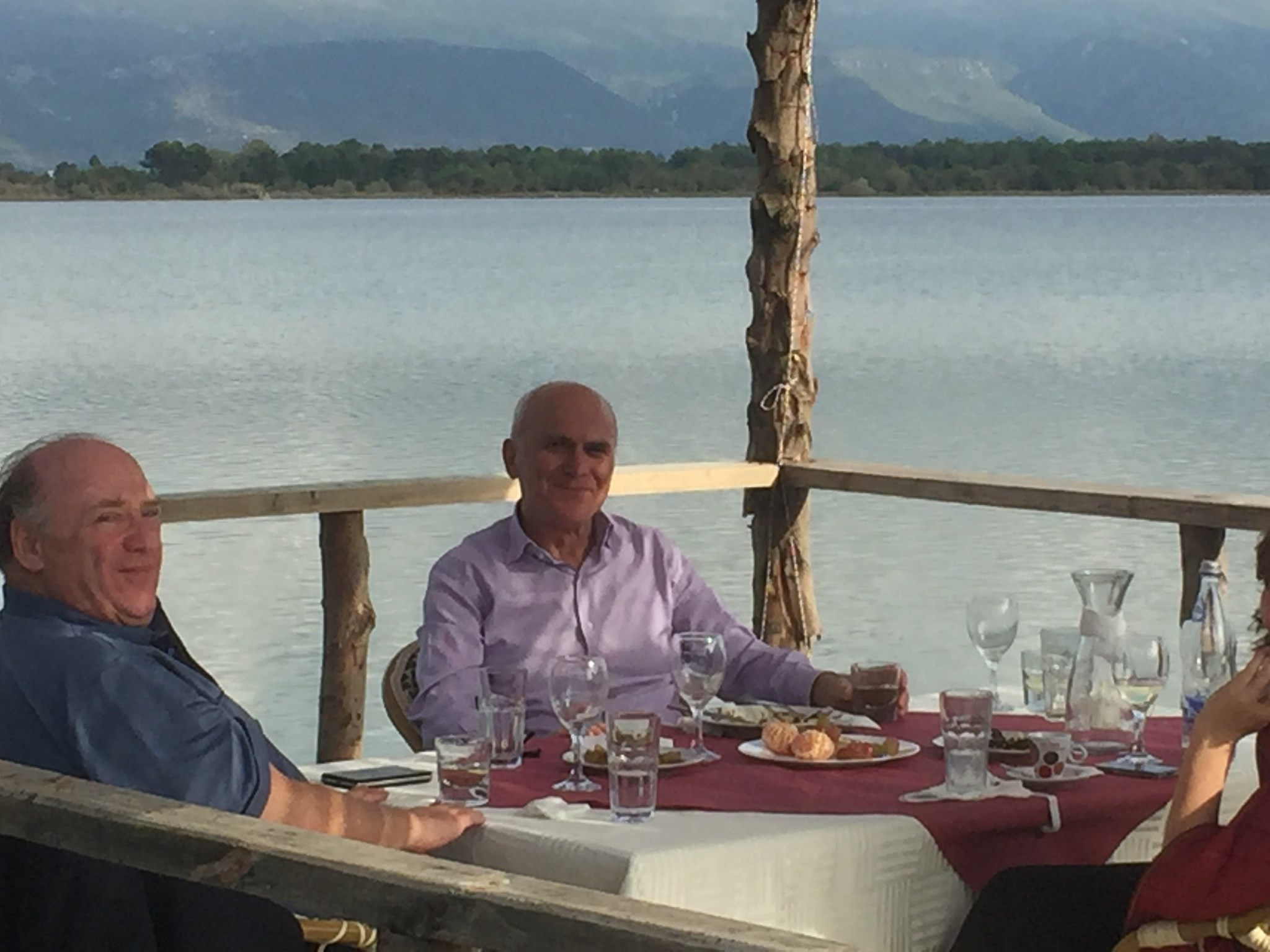Paul and Rasim at their favourite restaurant in Albania